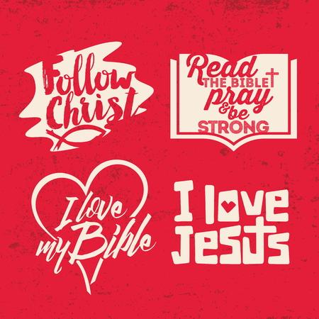 Christian phrase. Lettering. Words Illustration