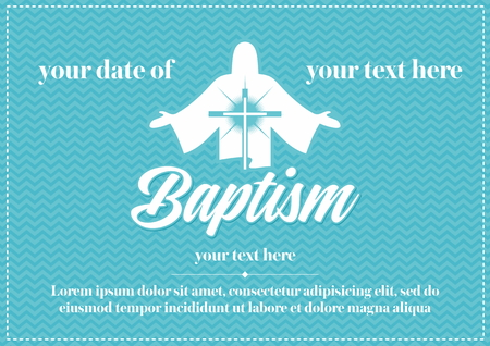 in: Postcard Christian baptism. Invitation, congratulation, certificate.