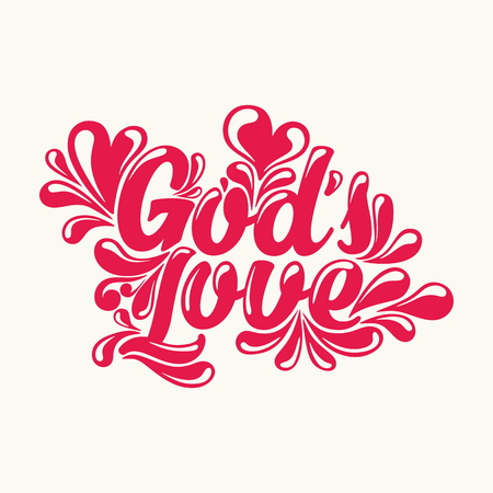 gods love: Gods love lettering