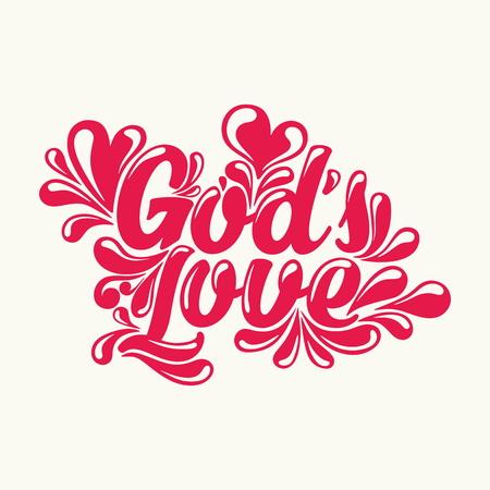 Gods love lettering