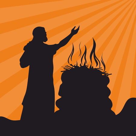 Aanbidding, gebed. Het altaar van God, brand, opoffering
