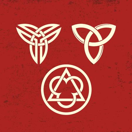 Trinity symbolen. Christelijke symbolen.