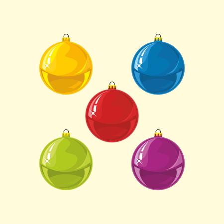 Christmas balls. Colorful balls 向量圖像
