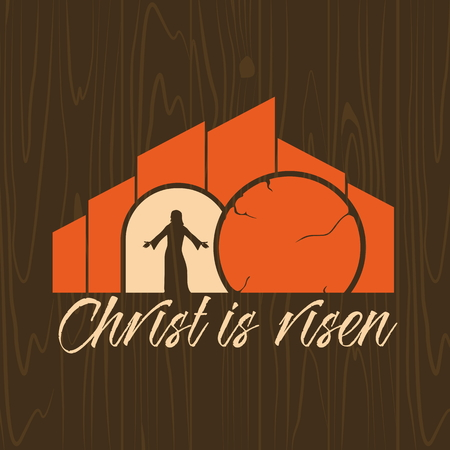 risen: Biblical illustration. Christ is risen. Illustration