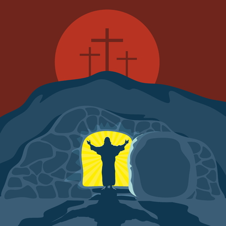 risen christ: Biblical illustration. Christ is risen. Illustration
