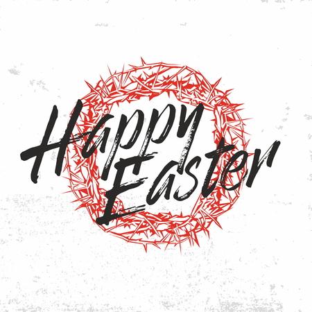 biblical: Biblical illustration. Christ is risen. Happy Easter