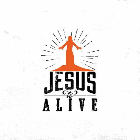 Biblical illustration. Jesus is alive. Easter