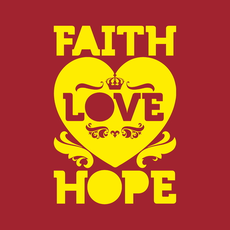 jesus in heaven: Bible typographic. Faih Hope Love.