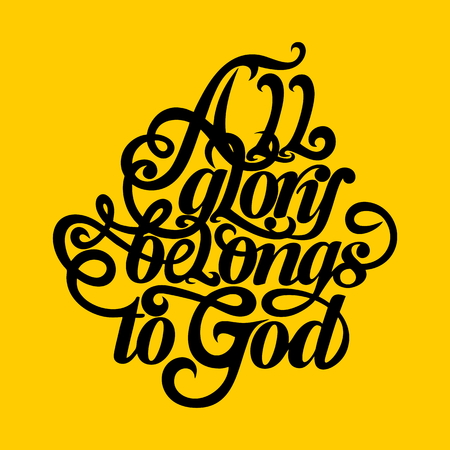 jesus in heaven: Bible typographic. All glory belongs to God.