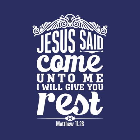 illustration biblique. Venez à moi, vous tous qui êtes fatigués et chargés, et je vous donnerai du repos.