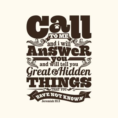 battesimo: illustrazione biblica. Invocami me e io ti risponderò, e ti dirò cose grandi e nascoste che non hai conosciuto.