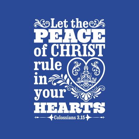 聖書の図。あなたの心にキリスト ルールの平和ができます。 写真素材 - 53174184