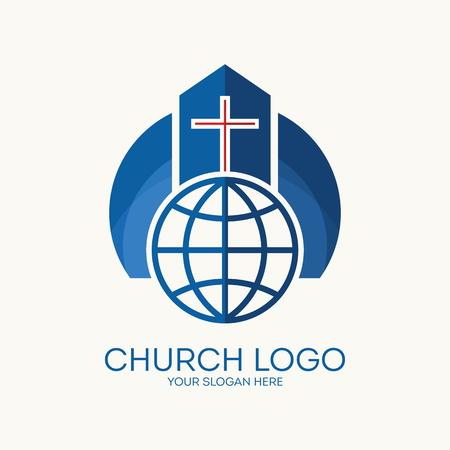Church logo. Christian symbols. Stock Illustratie
