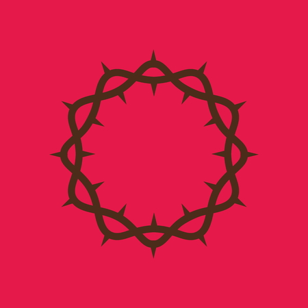 crown of thorns: Christian symbols. The crown of thorns of Jesus Christ Illustration
