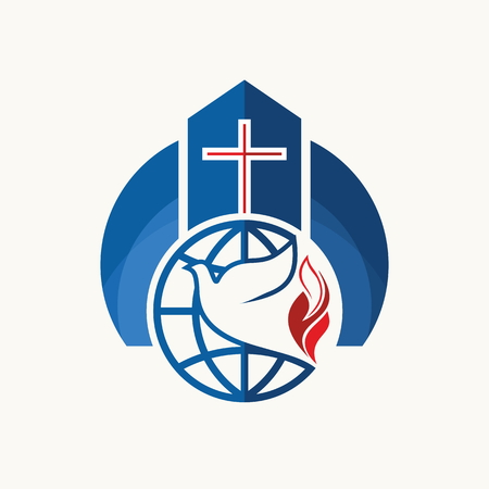 lord jesus: Church. Christian symbols. Illustration