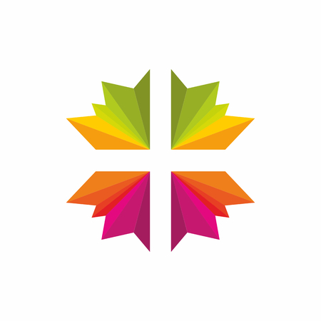 psalm: Church logo. Christian symbols. Cross.