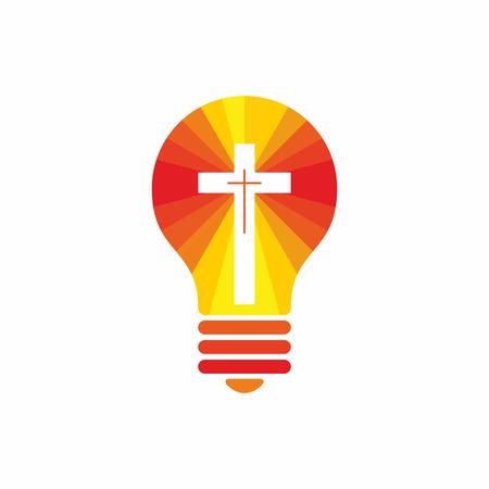 Kirchenlogo. Christliche Symbole. Jesus - das Licht dieser Welt