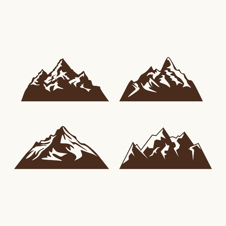 boy scouts tent: Camping symbols. Abstract high mountain icon set