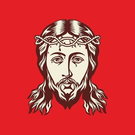 evangelism: Face of Jesus Christ hand drawn
