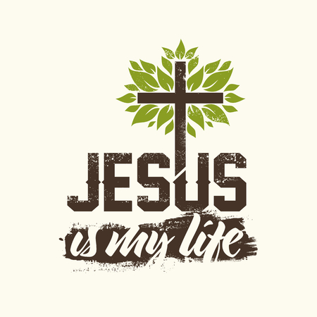 pray: Bible lettering. Christian art. Jesus is my life.