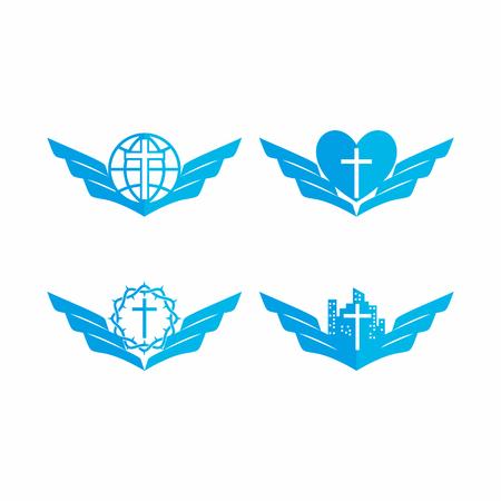 Set of church logo. Christian symbols. Reklamní fotografie - 60339650