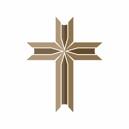 Church logo. Christian symbol. Cross.