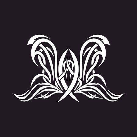 pez cristiano: gótico y marcas de tatuaje. símbolos cristianos. Pescados de Jesús y las alas del Espíritu Santo.