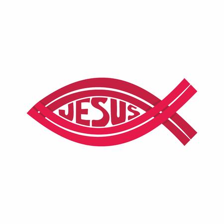 Church logo. Christian symbols. Jesus fish.