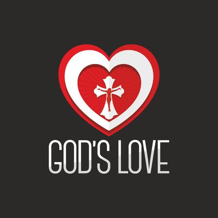 gods: Bible lettering. Christian art. Gods love.