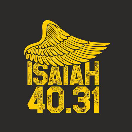 Bible lettering. Christian art. Wing. Isaiah 40:31