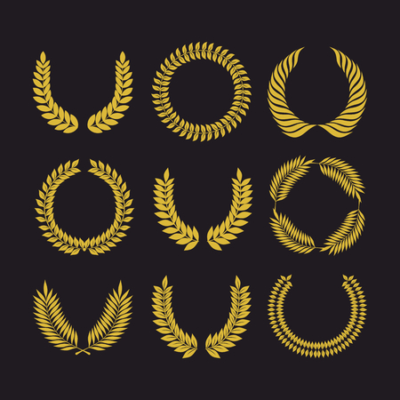 wreaths: Big set of vector wreaths, collection of design elements for creating.