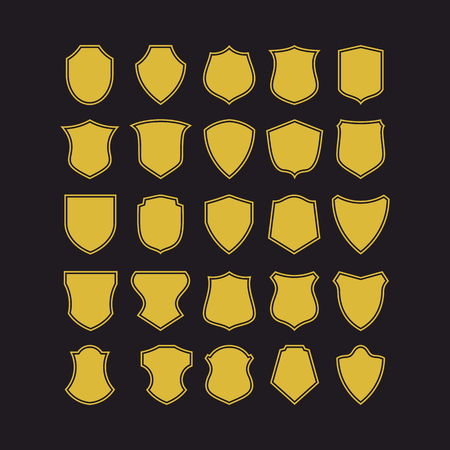 alfa: Big set of vector badge shapes, collection of design elements for creating.