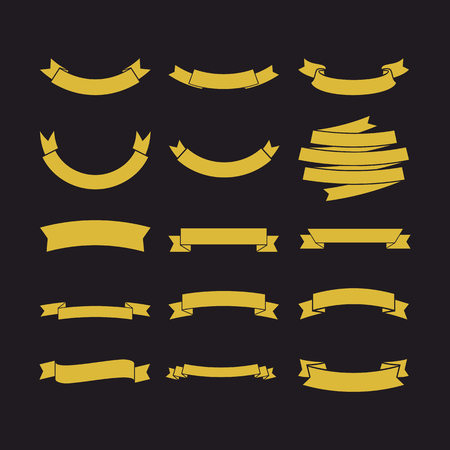alfa: Big set of vector ribbons, collection of design elements for creating.