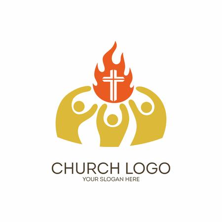 Kirche. Christliche Symbole. Einheit in Jesus Christus.