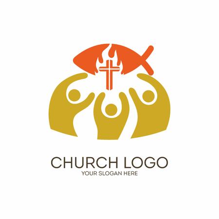 psalm: Church. Christian symbols. Unity in Jesus Christ. Illustration
