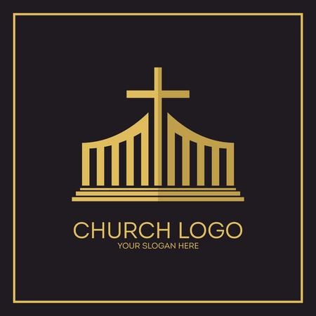 Church. Christian symbols. Jesus cross.