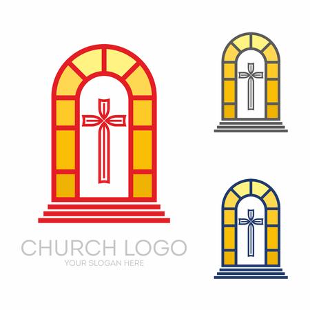 Christliche Symbole. Der Altar und das Kreuz Christi.