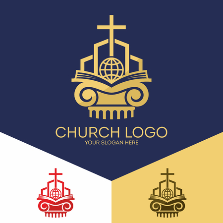 salvation: Christian symbols. The Bible, the cross of Jesus, salvation of the world.