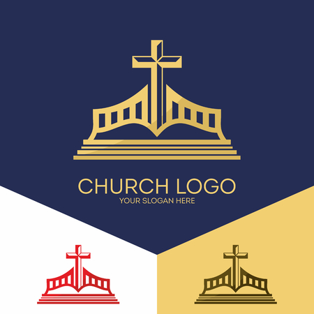 Christian symbols. The Bible and the authority of Jesus' cross.