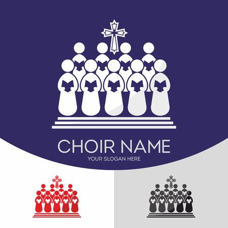 worship god: Choir Christian Church. Worship God. Music Ministry. Illustration
