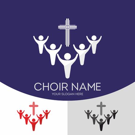 Choir Christian Church. Worship God. Music Ministry. Ilustrace