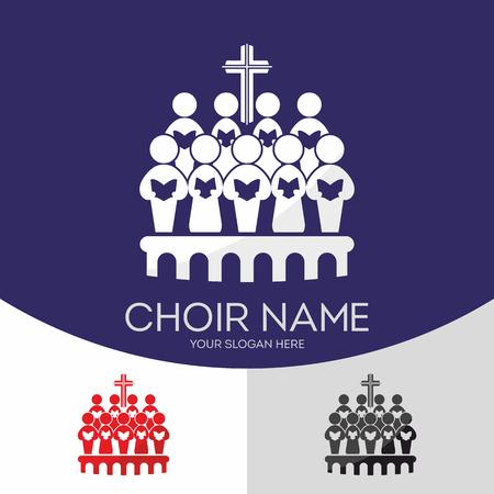 Choir Christian Church. Worship God. Music Ministry. Illustration