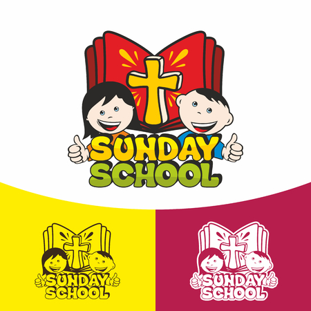 Sunday school. Christian symbols. The Church of Jesus Christ. Ilustração