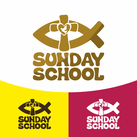 Sunday school. Christian symbols. The Church of Jesus Christ. Illustration