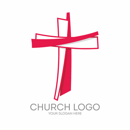 Church logo. Christian symbols. The Cross of Jesus Christ.