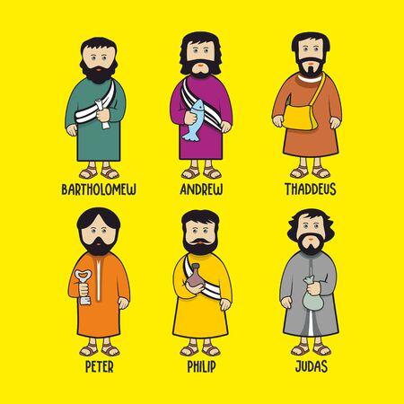Biblical illustration. The apostles of Jesus Christ. Illustration