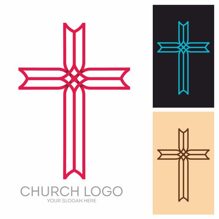 encouraging: Church logo. Christian symbols. The Cross of Jesus Christ.