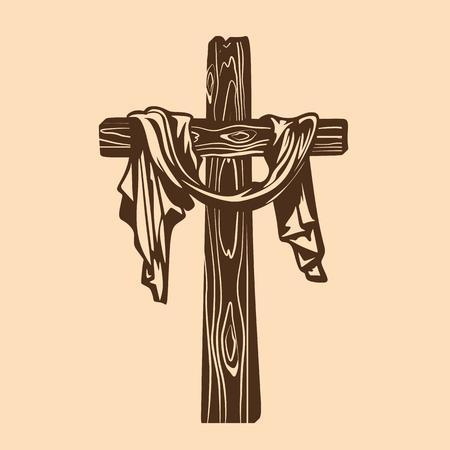cross of Jesus with drapery