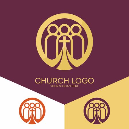 evangelist: Church logo. Christian symbols. Church of God, faithful to the Lord Jesus Christ. Illustration