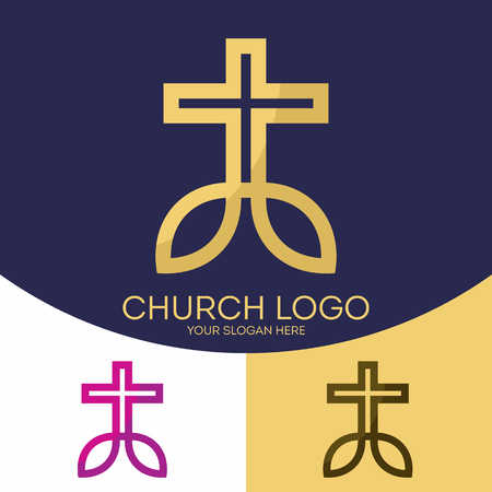 Church Logo Christian Symbols The Cross Of Jesus Christ And